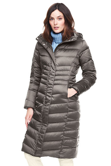 Women's Shimmer Long Down Coat from Lands' End