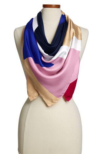 Women's Silk Colourblock Scarf