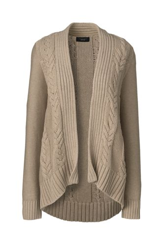 Women's Regular Drifter™ Cable Open Cardigan