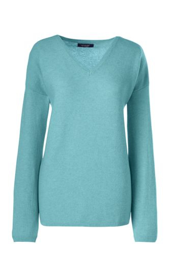 Women's Regular Relaxed Cashmere Soft V-neck Jumper
