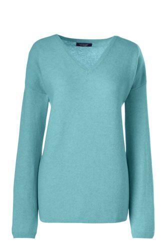 Women's Regular Relaxed Cashmere Soft V-neck Jumper