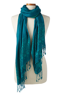 Women's Paisley Jacquard Tasselled Scarf