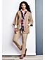 L'Écharpe Florale Rayée Brodures à Franges Femme, Taille Standard
