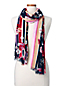 Women's Striped Edge Floral Scarf