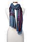 Women's Wool Silk Border Scarf