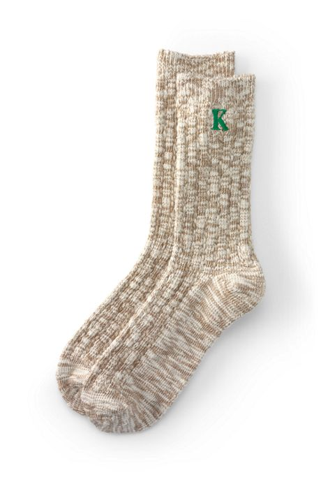 School Uniform Women's Thermaskin Rib Marl Crew Socks