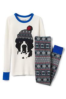 Boys' Snug-fit Waffle Knit PJ's