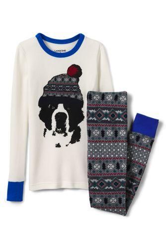 Pyjamaset mit Waffelstruktur für Jungen