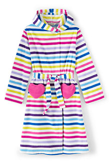 Girls' Striped Fleece Dressing Gown