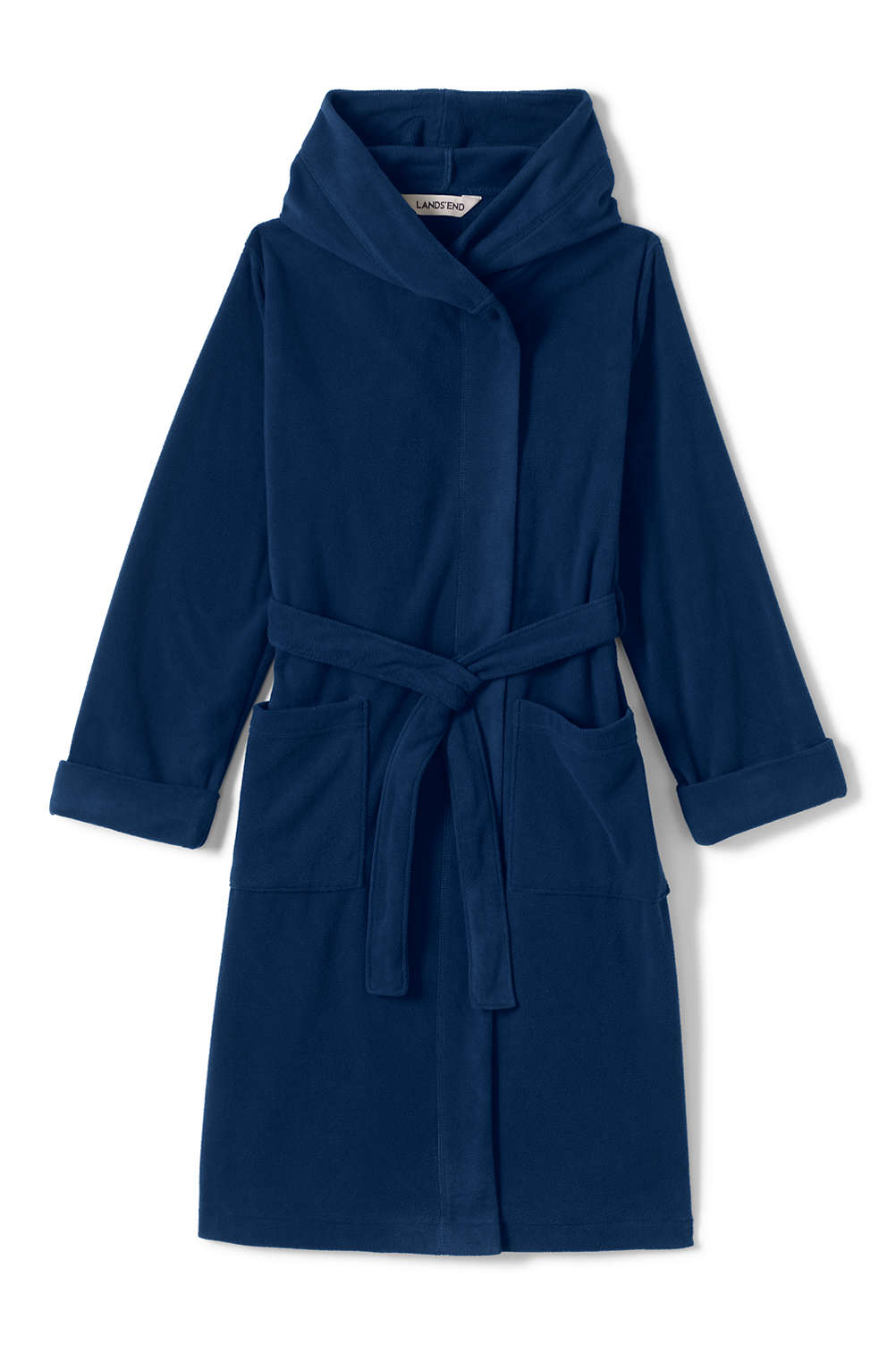 Kids Hooded Fleece Robe from Lands  End e075f9801