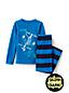 Fleece-Pyjama mit Grafik-Print für Jungen