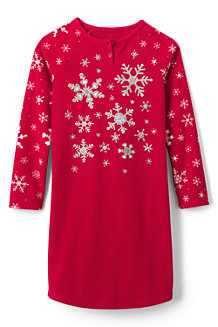 Girls' Snowflake Fleece Nightie