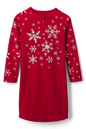 Girls' Snowflake Fleece Nightie
