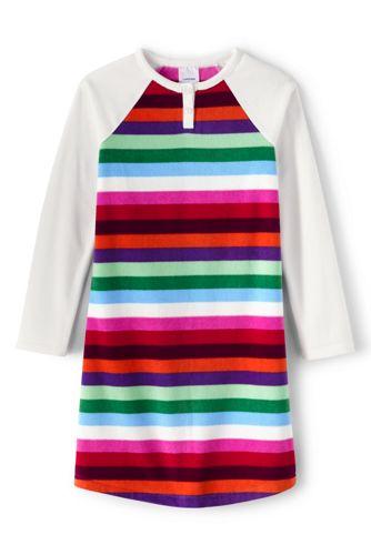 Girls' Stripe Fleece Nightie