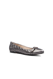 Women's Quilted Leather Ballet Pumps