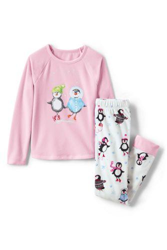 Girls' Fleece Graphic PJ Set