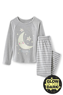 Fleece-Pyjama mit Grafik-Print für Mädchen