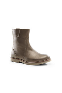Girls' Metallic Leather Boots