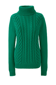 Women's Drifter Cable Roll Neck Jumper