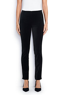 Women's Mid Rise Velvet Perfect Fit Trousers