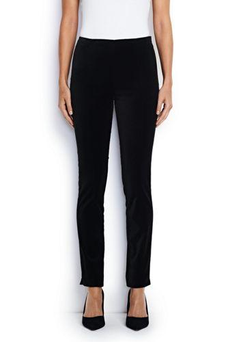 Le Pantalon Parfait Stretch en Velours et Taille Rabaissée, Femme Stature Standard