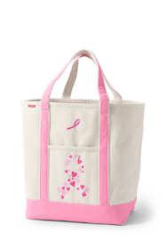 Pink Print Large Open Top Tote Bag