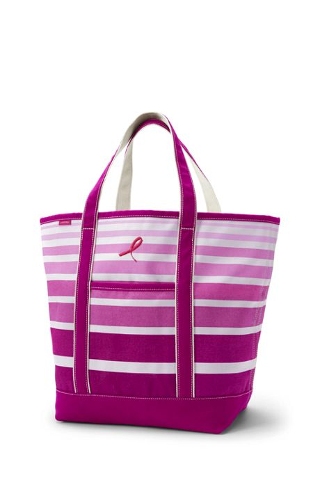 Pink Print Large Open Top Tote Bag