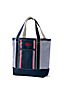 Placed Stripe Medium Open Top Tote Bag