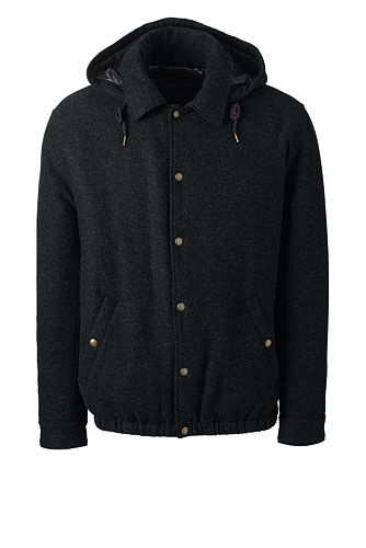 Primaloft Wool Coaches Jacket 475518: Dark Charcoal Heather