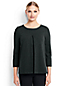 Women's Regular Ponte Pleat Front Top
