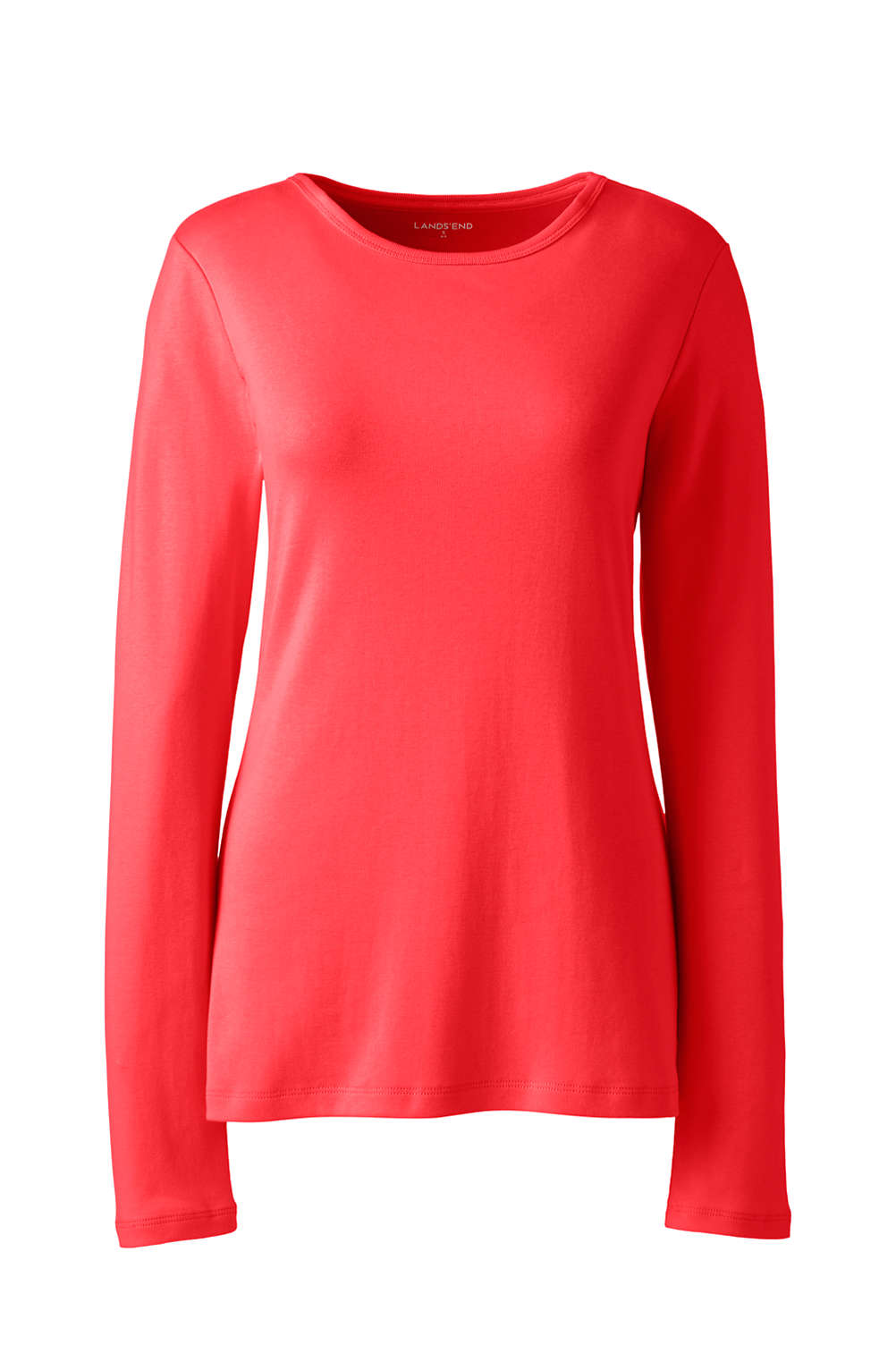 6a48aa51585 Women s All Cotton Long Sleeve T-Shirt - Rib Knit Crewneck from ...