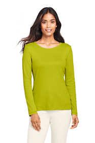 Women's Shaped Long Sleeve T-shirt Cotton Crewneck