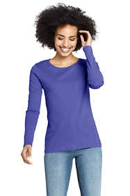 Women's All Cotton Long Sleeve Crewneck T-Shirt