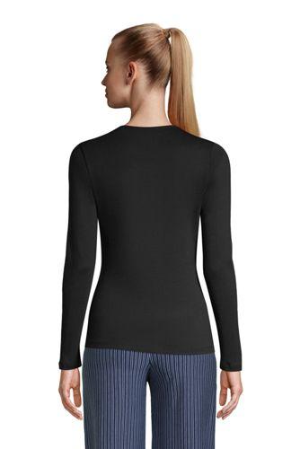 Women's Tall All Cotton Long Sleeve Crewneck T-Shirt