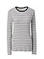 Women's Regular Long Sleeve Stripe Rib Tee