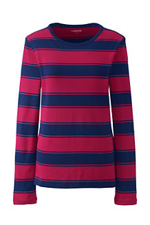Women's Long Sleeve Stripe Rib Tee