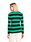 Women's Regular Long Sleeve Stripe Rib Tee