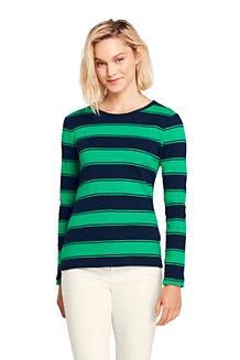 Women's Long Sleeve Stripe Rib Tee