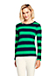 Women's Regular Long Sleeve Stripe Cotton Rib Crew Neck T-shirt