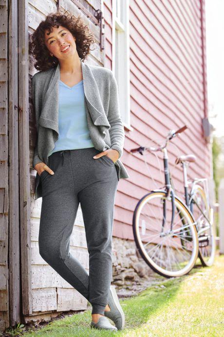 Women's Plus Size Shaped Long Sleeve T-shirt Cotton V-neck