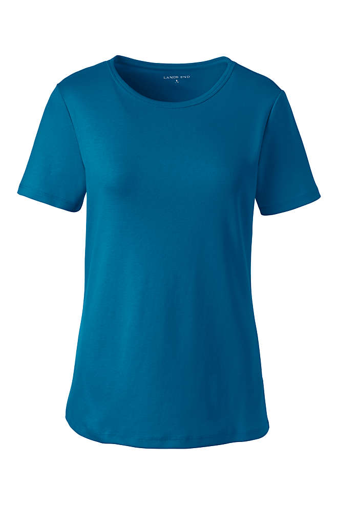Women's Plus Size All Cotton Short Sleeve Crewneck T-Shirt, Front
