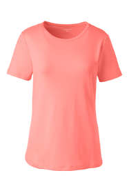 Women's Plus Size Petite Shaped Cotton Crewneck T-shirt