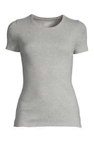 Women's Plus Size Petite All Cotton Short Sleeve Crewneck T-Shirt