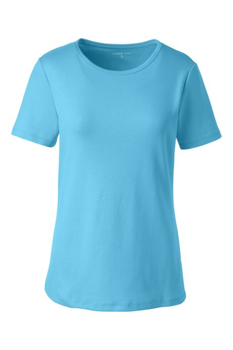 Women's Plus Size Shaped Cotton Crewneck T-shirt