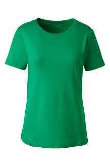 Women's Cotton Rib Crew Neck Tee