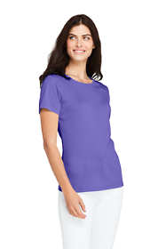 Women's Petite All Cotton Short Sleeve Crewneck T-shirt
