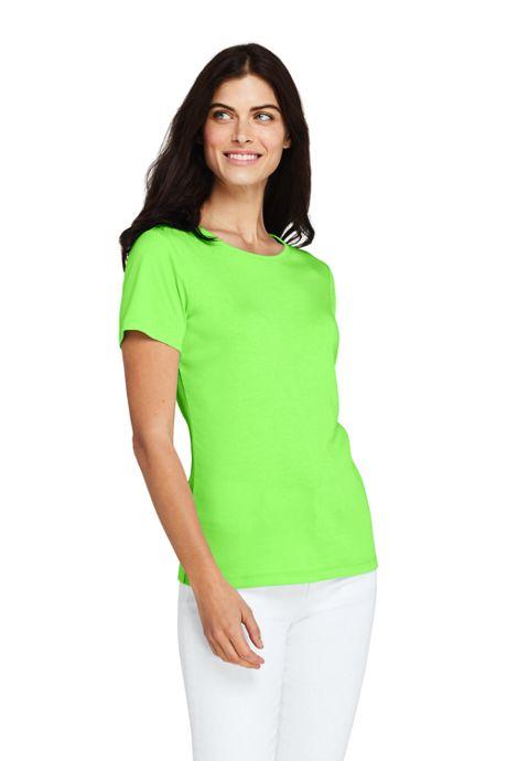 Women's All Cotton Short Sleeve Crewneck T-shirt