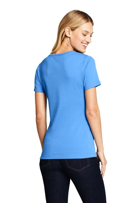 Women's Petite Shaped Cotton Crewneck T-shirt