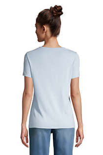 Women's Tall All Cotton Short Sleeve Crewneck T-shirt, Back