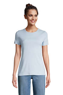 Women's Tall All Cotton Short Sleeve Crewneck T-shirt, Front
